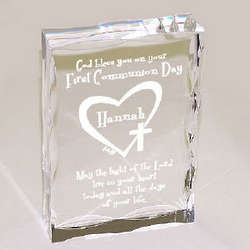 First Communion Personalized Plaque