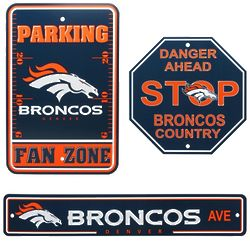 Denver Broncos Fan Zone Signs