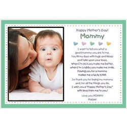 Happy Mother's Day Personalized Poem Frame for Mommy