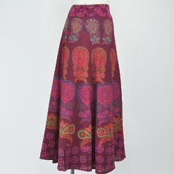 Classic India Block Print Wrap Skirt