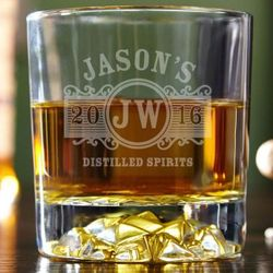 Marquee Personalized Fairbanks Whiskey Glass