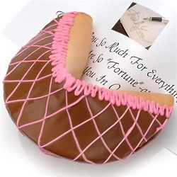 Personalized Giant Neapolitan Fortune Cookie