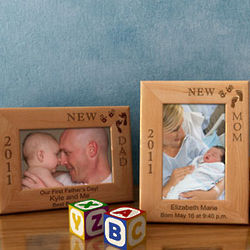 Personalized 'I'm The New' Wooden Picture Frame