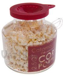 Glass Catamount Microwave Popcorn Popper
