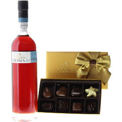 Warres Otima Port and 8-Piece Godiva Chocolates Gift Set