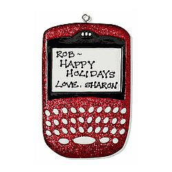 Blackberry Text Berry Phone Ornament