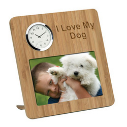 Bamboo Photo Frame and Clock