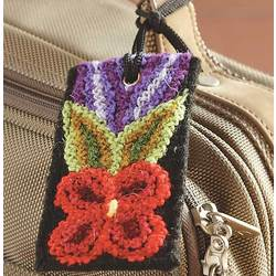 Embroidered Peruvian Luggage Tag