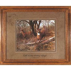 Woodland Deer Sympathy Framed Print