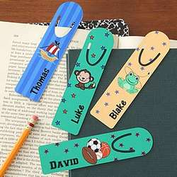 Kids Designs Personalized Boy's Bookmarks