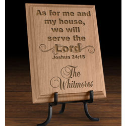 Personalized Serve the Lord Wooden Plaque