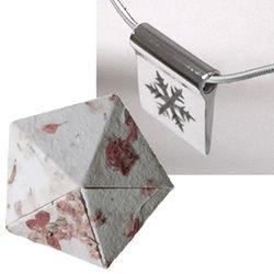 Silver Snowflake in Origami Box