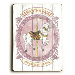 Carousel Horse Vintage Sign