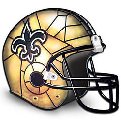 New Orleans Saints Tiffany-Style Accent Lamp