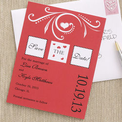 Personalized One Love Save the Date Cards