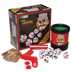 Square Shooters Poker Dice Game Set