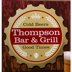 Premium Brew Personalized Bar Canvas