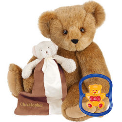 Baby's Teddy Bear, Rattle, and Blanket Gift Set