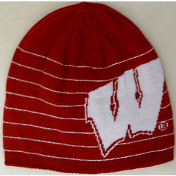 Wisconsin Badgers Men's Reversible Striped Knit Hat