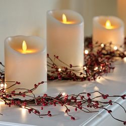 """9"""" Scented Flickering Flame-Free LED Illusion Candle"""