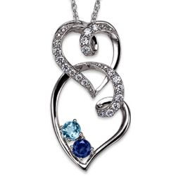 Sterling Silver Captured My Heart Necklace