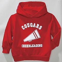 Youth Sports Personalized Red Hoodie