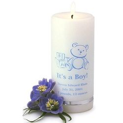Personalized It's a Boy Candle