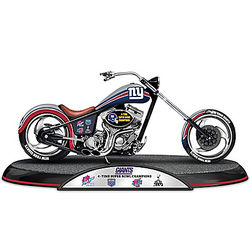 New York Giants Super Bowl Champions Chopper Sculpture