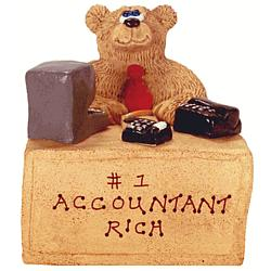 Accountant or CPA Personalized Teddy Bear Figurine