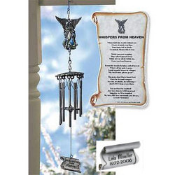 Personalized Whispers from Heaven Windchime