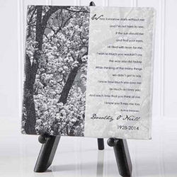 Personalized Memorial Table Canvas