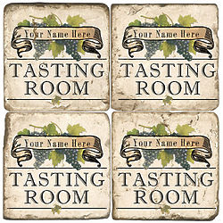 Personalized Tasting Room Coasters