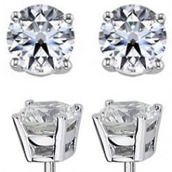0.50 Carat Diamond Stud Earrings