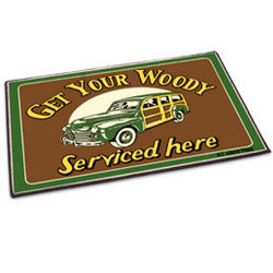 Get Your Woody Serviced Here Welcome Mat