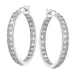 Diamonisse Inside Out Hoop Earrings