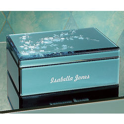 Etched Personalized Glass Box
