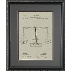 Scales of Justice 11x14 Patent Framed Art
