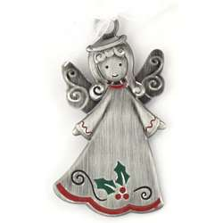Personalized Pewter Angel Ornament
