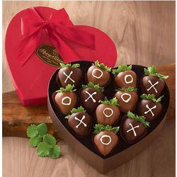 XOXO Chocolate Dipped Strawberries