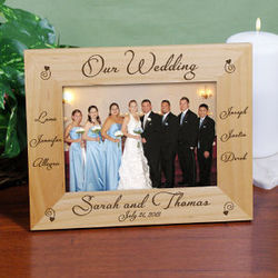 Engraved Our Wedding Picture Frame
