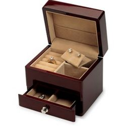 Mahogany Jewelry Box with Drawer