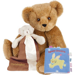 Baby's Teddy Bear, Blanket, and Sweet Dreams Book Gift Set