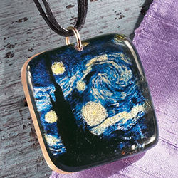 Van Gogh's Starry Night Necklace