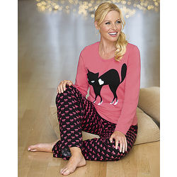 Misses Cat Pajama Set