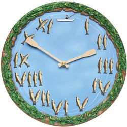 Canoe Paddles and Fish Clock
