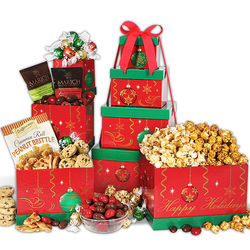 Christmas Gourmet Sweets Ornament Gift Tower