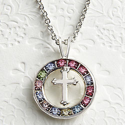Cubic Zirconia and Cross Necklace