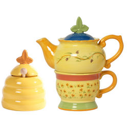 Pistoulet Tea for One and Honey Pot Gift Set