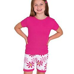 Girl's Fuchsia Daisy Short Pajamas