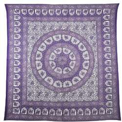 Chandini Wheel Mandala Tapestry
